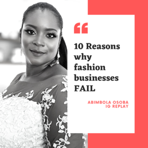 10 reasons fashion businesses fail