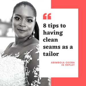 8 tips to having clean seams