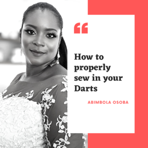 how to properly sew in your darts